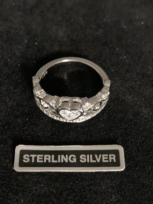 Sterling Silver Clear CZ Ring for Sale in Quincy, IL