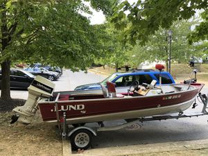 Fishing Boat with trailer and cover for Sale in Baltimore, MD