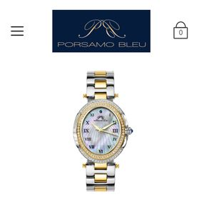 Porsamo bleu ladies women's luxury high end watch with box and papers for 1000$ or best offer perfect gift 🎁 for thanksgiving two tone watch silver a for Sale in Bellevue, WA