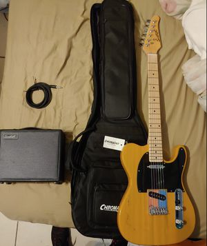 Sawtooth Telecaster Electric Guitar and Amplifier for Sale in Miami, FL
