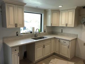 Solid Wood Kitchen Cabinet / Quartz Counter tops Warehouse Lowest Cost for Sale in Los Angeles, CA