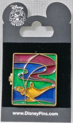 NEW Disney Park Resort Aladdin Jasmine Stain Glass Hinged Genie Lamp Pin 48426 for Sale in Homestead, FL