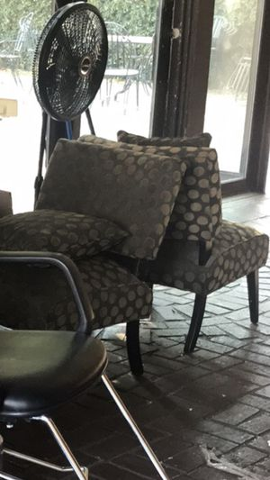 Olive green polka dot chairs $50 each for Sale in Modesto, CA