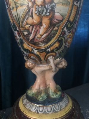 Antique Capodimonte pair of lamps for Sale in West Palm Beach, FL
