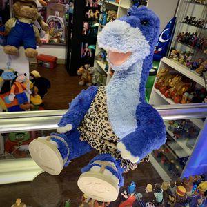 """Build-A-Bear Workshop 20"""" BAB Purple/Blue Plush Stuffed Animal Dinosaur In Cave Man Flintstones Like Outfit & Flip-Flops for Sale in Elizabethtown, PA"""