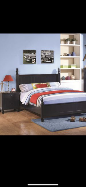 Three piece bedroom set navy blue full-size for Sale in San Jose, CA