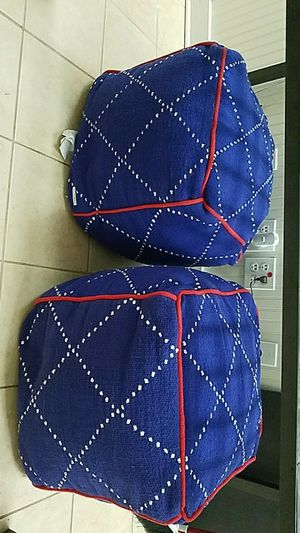 Pair of decorative poufs- Brooklyn and Bond for Sale in Nashville, TN