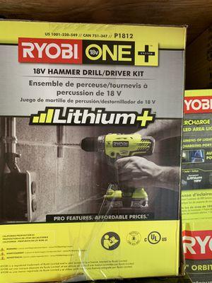 Brand new ryobi 18v hammer drill kit not negotiable for Sale in Plant City, FL