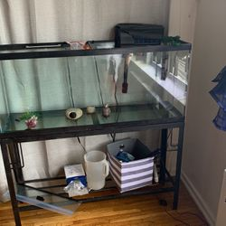55 Fish Tank With Metal Framing for Sale in Queens,  NY