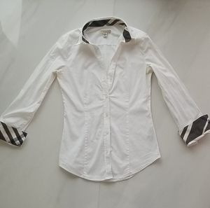 Burberry White Elegant Button Shirt for Sale in North Miami Beach, FL