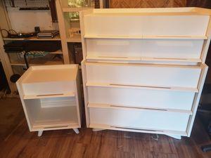 Retro mid-century modern dresser w/ 1 side table for Sale in Smyrna, TN