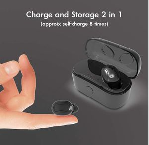 Brand New in Box Bluetooth Headphones Wireless Mini Bluetooth Earbuds Charging Case V5.0 Microphone Bluetooth Headset One Piece- Black for Sale in Hayward, CA
