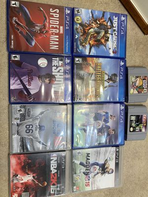 Videogames PS3 -PS4-N64 for Sale in Austin, TX