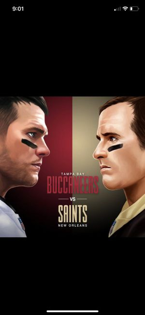 Saints @ Bucs November 8th Sunday night prime time game 8:30pm for Sale in Tampa, FL