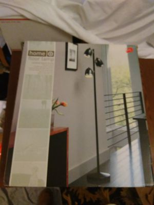 HOME TREE FLOOR LAMP 3 SHADES, BLACK NEW IN BOX for Sale in West Chicago, IL