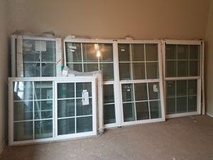 5 new vinyl windows (1) 4/0 & 5/0 (1) 4/0 & 3/0 (3) 2/0 & 5/0 for Sale in Austin, TX