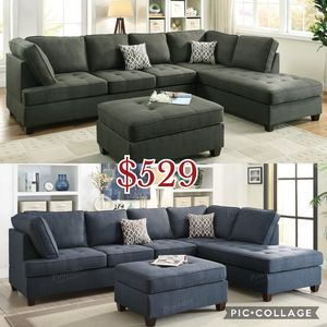 2pcs Sectional sofa couch, sofa couch (not included ottoman $85 for Sale in Los Angeles, CA