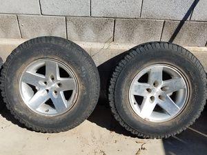 5 Jeep Wrangler TJ 2005 Rubicon Moab 16 inch wheels rims 4 BFGoodrich 245/75r16 tires for Sale in Glendale, AZ