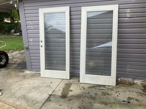 Two glass doors steel casing for Sale in Tampa, FL