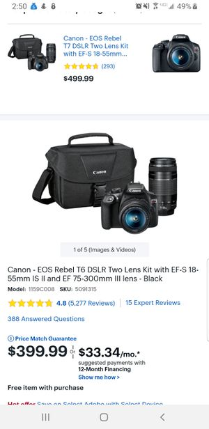 Canon rebel t6 kit (new) for Sale in Riverbank, CA