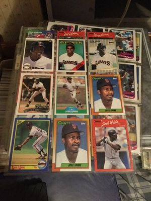 Some very rare error baseball cards taking offers and some are rookie cards for Sale in Stockton, CA