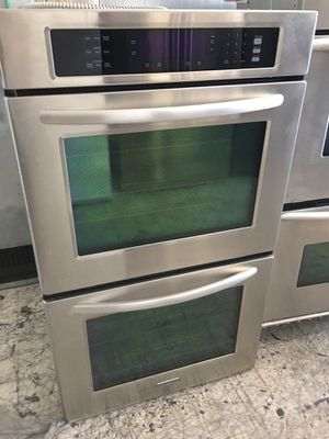 """Kitchen aid stainless steel 30"""" wide double oven for Sale in Costa Mesa, CA"""