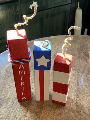 4th of July Wood Blocks for Sale in Gates, NC