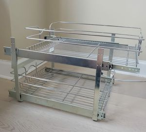 Double tier wire pull out basket for Sale in Hoboken, NJ