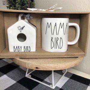Rae Dunn BABY BIRD HOUSE & MAMA BIRD Mug for Sale in San Bernardino, CA