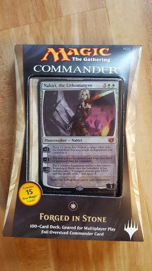 Magic the Gathering: Forged in Stone commander deck *factory sealed* Nahiri for Sale in Chicago, IL