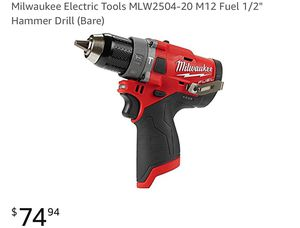"""Milwaukee Electric Tools MLW2504-20 M12 Fuel 1/2"""" Hammer Drill (Tool only) for Sale for sale  Queens, NY"""
