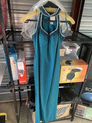 Long Blue-Green Colored Formal Dress. Size 4. for Sale in Lambertville, MI
