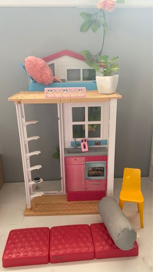Barbie Aesthetic Play house for Dolls We can go lower on the price for Sale in La Habra Heights, CA