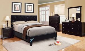 Platform Bed Frame In Twin Full Queen King California King - Crystal Tufted Headboard for Sale in Livermore, CA