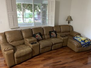 Recliner sofa leather, 4 recliners for Sale in Dublin, CA