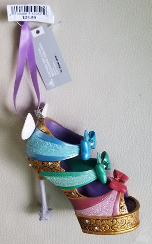 Disney Parks Sleeping Beauty Fairies Runway Shoe Slipper Ornament for Sale in San Diego, CA