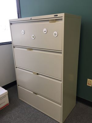 Office furniture. Regular use. $100.00 both. Pick it up today only. for Sale in Houston, TX