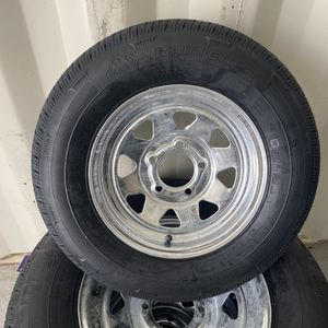New 175-80-13inch in 5-lug galvanized rims. $75/each for Sale in Fort Lauderdale, FL
