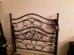 Full Size Iron Bed Frame for Sale in Webb City, MO