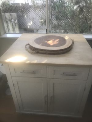 White kitchen island for Sale in Laguna Beach, CA