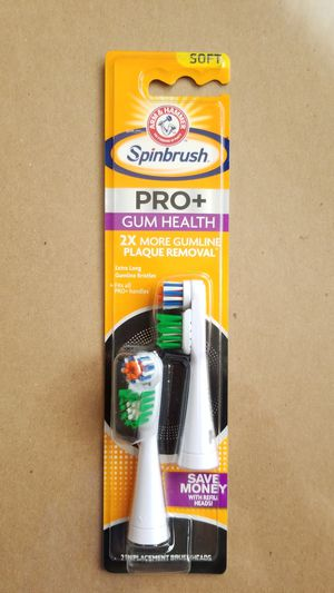 Arm & Hammer Spinbrush Pro Plus Gum Health Replacement Brush Heads (Refills), 2 Count for Sale in Marysville, WA
