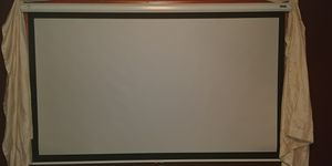 """Da-lite 92"""" High Gain Manual Pull-down Screen with Brackets for Sale in Knoxville, TN"""