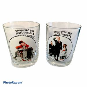 Collector's 2 NORMAN ROCKWELL SATURDAY EVENING POST Tumblers for Sale in Ashland City, TN
