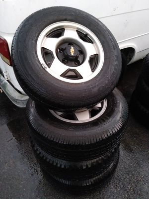 95 chevy Silverado chevrolet 5 lug rims wheels 5x5 bolt original rines for Sale in Fort Worth, TX
