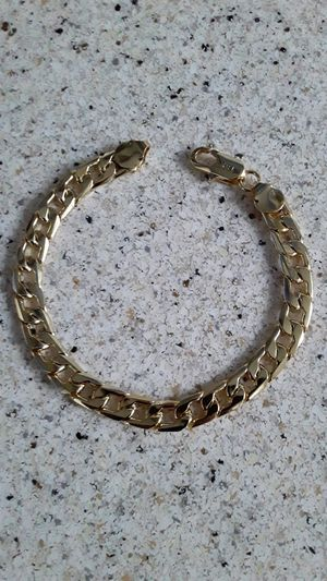 18K Gold over silver chain charm bracelet. for Sale in San Lorenzo, CA