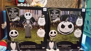 2 X The Nightmare Before Christmas Collectable Exclusive 25 Years Jack Skellington Airblown Inflatables. for Sale in Round Rock, TX