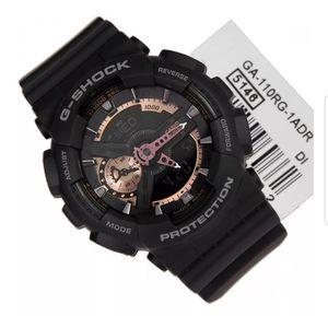 Gshock watch casio sport matte black with Rose gold inside reloj sport new in box for Sale in Phoenix, AZ