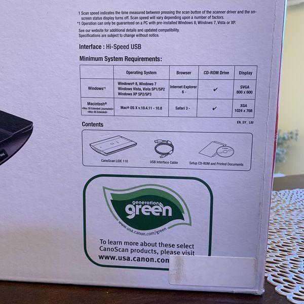 Canon CanoScan LiDE 110 Color Image Scanner for Sale in Salem, OR - OfferUp