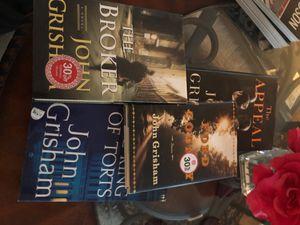 4 hard cover John Grisham books for Sale in Detroit, MI