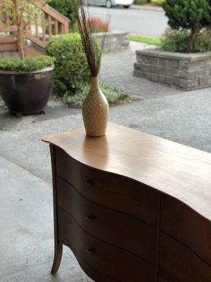 Gorgeous wood dresser + mirror for Sale in Kirkland, WA